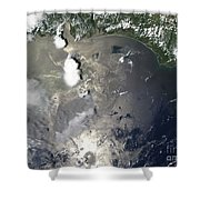 Oil Slick In The Gulf Of Mexico Shower Curtain