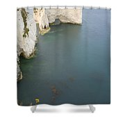 Old Harry Rocks Shower Curtain