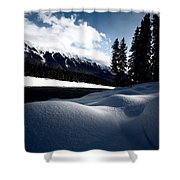 Open Water In Winter Shower Curtain