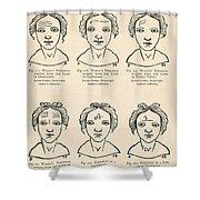 Physiognomy Shower Curtain