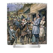 Pilgrims: Thanksgiving, 1621 Shower Curtain
