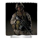 Portrait Of A U.s. Marine Shower Curtain