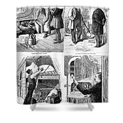 Pullman Car, 1877 Shower Curtain