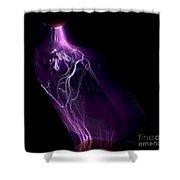 Quartz Crystal & Sparks Shower Curtain