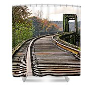 Railway Track Shower Curtain