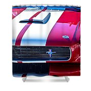 Red 1966 Ford Mustang Shelby Shower Curtain