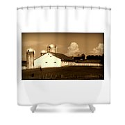Cattle Farm Mornings Shower Curtain