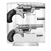 Revolvers, 19th Century Shower Curtain by Granger