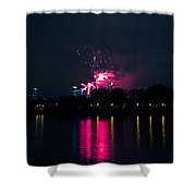 River Thames Fireworks Shower Curtain