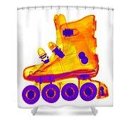 Rollerblade Boot Shower Curtain