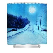Rural Road In Winter Shower Curtain