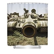 Russian T-54 And T-55 Main Battle Tanks Shower Curtain