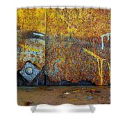 Rust Colors Shower Curtain