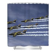 Saab 105 Jet Trainers Of The Swedish Shower Curtain