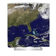 Satellite View Of The United States Shower Curtain
