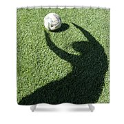 Shadow Playing Football Shower Curtain