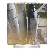 Shuttle Lift-off Shower Curtain