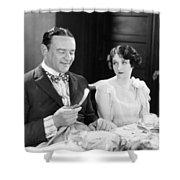Silent Film: Restaurants Shower Curtain