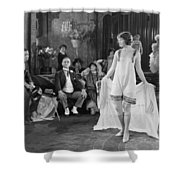 Silent Film Still: Fashion Shower Curtain