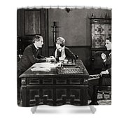 Silent Film Still: Offices Shower Curtain