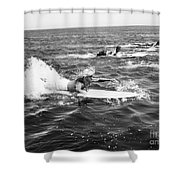 Silent Still: Beach Shower Curtain