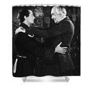 Silent Still: Two Men Shower Curtain
