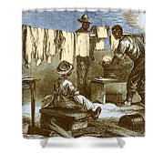 Slaves In Union Camp Shower Curtain by Photo Researchers