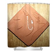 Sleep - Tile Shower Curtain by Gloria Ssali