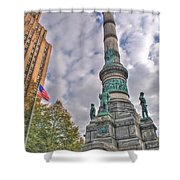 Soldiers And Sailors Monument In Lafayette Square Shower Curtain
