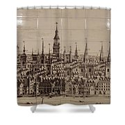 Southwark Bridge Artwork Shower Curtain