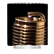 Spark Plug Firing Shower Curtain