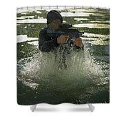 Special Operations Forces Soldier Shower Curtain