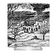 Spirit Lake Massacre, 1857 Shower Curtain