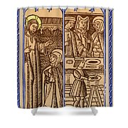 St. Catherine, Italian Philosopher Shower Curtain by Photo Researchers