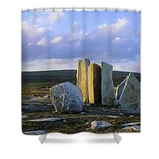 Standing Stones, Blacksod Point, Co Shower Curtain