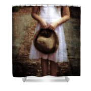 Straw Hat Shower Curtain