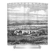 Suez Canal, 1869 Shower Curtain