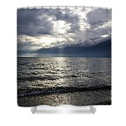 Sunlight Over A Lake Shower Curtain