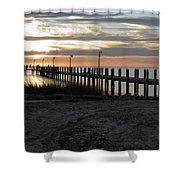 Sunset Cape Charles Virginia Shower Curtain