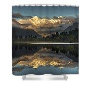 Sunset Reflection Of Lake Matheson Shower Curtain