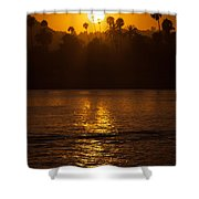 sunset santa Barbara Shower Curtain