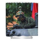 Tank Commander Of A Leopard 1a5 Mbt Shower Curtain