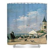 The Beach At Trouville Shower Curtain