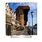 The Crane In Gdansk Shower Curtain