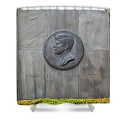 The John F. Kennedy Memorial At Veterans Memorial Park In Hyanni Shower Curtain