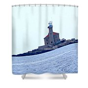 The Lighthouse Close To Primosten Shower Curtain