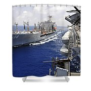 The Military Sealift Command Fleet Shower Curtain