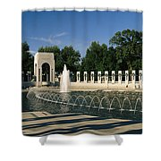 The Pacific Pavilion And Pillars Shower Curtain