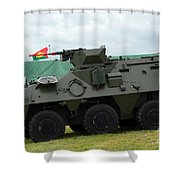 The Pandur 6x6 Family Of Wheeled Shower Curtain