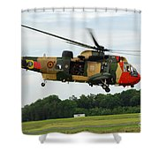 The Sea King Helicopter Of The Belgian Shower Curtain